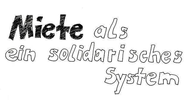 ExRotaprint, Miete als solidarisches System, Zeichnung: Daniela Brahm