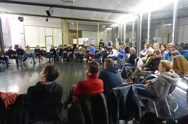 Diskussion im ExRotaprint Projektraum