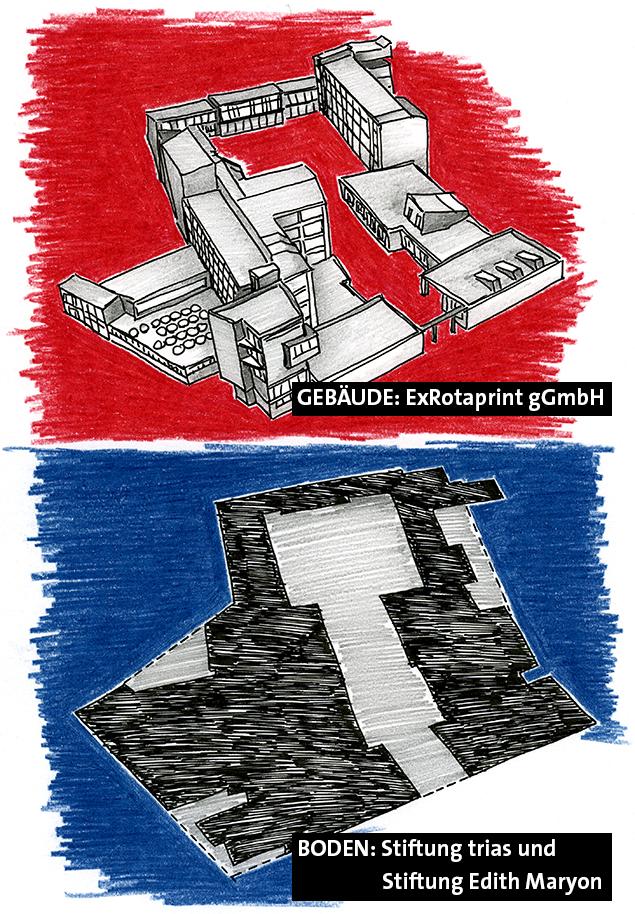 ExRotaprint Erbbaurecht, Zeichnung: Daniela Brahm