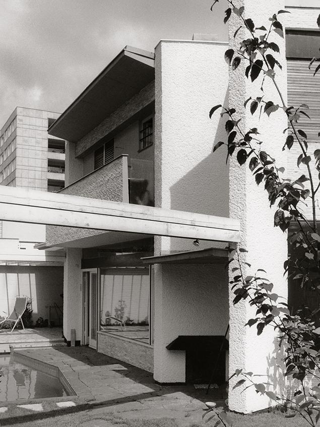 Haus Kirsten im Hansaviertel Berlin, ExRoraprint, Foto: Kirsten & Nather, 1960