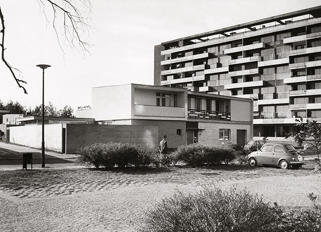 Haus Blumenthal im Hansaviertel Berlin, ExRotaprint, Foto: Kirsten & Nather, 1959