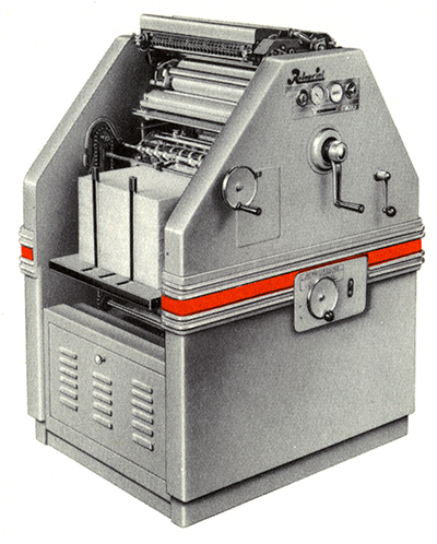 Rotaprint Machine R 30 Super, ExRotaprint, Ernst Jaster 1954
